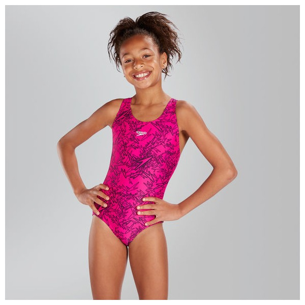 d118e1779ba Speedo - Swimsuit - Kids - Boom Allover Splashback - Electric Pink/Black