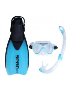 SEAC Sprint Dry Snorkelling Mask/Snorkel and Fin Set - Various Sizes