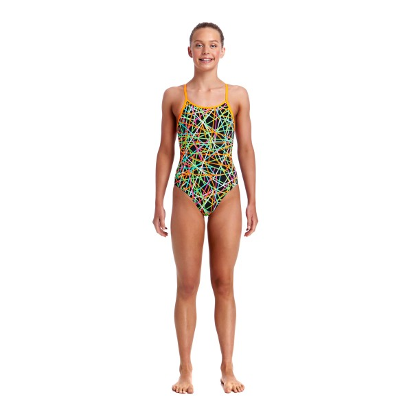 Funkita - Swimsuit - Girls - Strapped In - Diamond Back One Piece