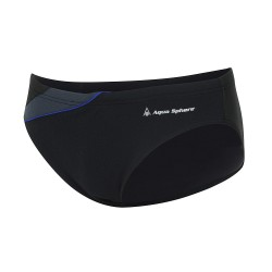Aquasphere Mens Swim Brief - Eliott - Black/Dark Blue
