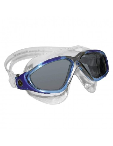 Aquasphere Vista Swim Mask - Aqua/Blue/Silver/Dark lenses