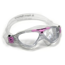 Aquasphere Vista Junior Swim Mask - Glitter/Pink/Clear