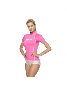 Cressi Rash Guard - Short Sleeve - Womens - Pink