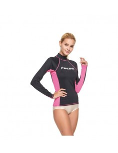 Cressi Rash Guard - Long Sleeve - Womens - Black/Pink