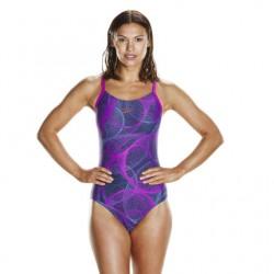 Speedo Swimsuit - Cyclone Thinstrap Muscleback - Navy/Purple