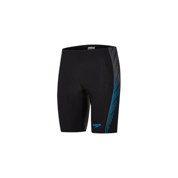 Speedo - Swim - Mens - Placement Panel Jammer - Black/Grey