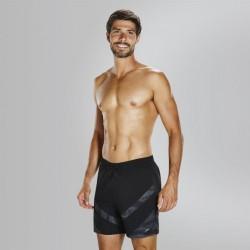 Speedo - Watershort - Mens - Sport Panel 16'' -  Black/Grey