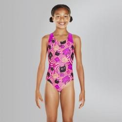 Speedo - Swimsuit - Junior - Psychedelic Flash Allover Splashback - Purple/Red