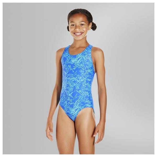 fa84aaa25ba17 Speedo - Swimsuit - Junior - Boom Allover Splashback - Blue/Blue