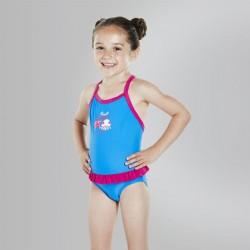 Speedo - Kid - Fantasy Flowers Frill Swimsuit