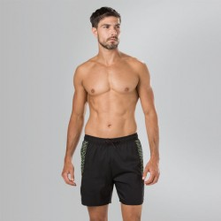 "Speedo - Watershort - Mens - Sport Printed 16"" -  Black/Zest"