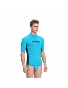 Cressi Rash Guard - Aqua/Black