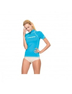 Cressi Rash Guard - Short Sleeve - Womens - Aquamarine