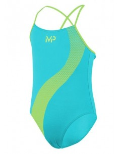 Aquasphere MP Swim Suit - Girls - Lumy - Turqoise/Yellow