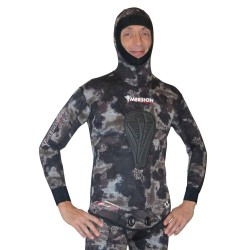 Imersion Wetsuit - Seriole Brown Camo - Super Stretch 5mm (Jacket + Long-John Pant)