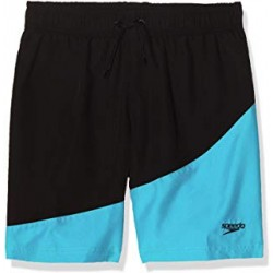 Speedo - Boys - Colour Block Watershort 15'' -  Black/Aquasplash