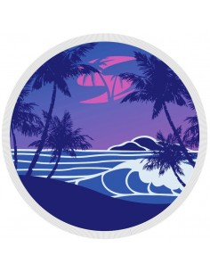 SOLA Round Beach Towel - Blue or Orange