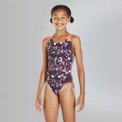 Speedo - Swimsuit - Junior - Allover Splashback - Black/Red
