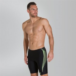 Speedo - Swim - Mens - Placement Jammer - Black/Yellow