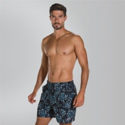 "Speedo - Watershort - Mens - Vintage Paradise 16"" -  Black/Blue"