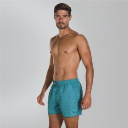 "Speedo - Watershort - Mens - Vintage Printed 14"" -  Peacock/Sage"
