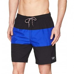 "Speedo - Watershort - Mens - Panel Leisure 18"" - Black/Blue"
