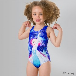 Speedo - Swimsuit - Kids - Disney Frozen Digital Placement - Blue/Turqoise/Pink