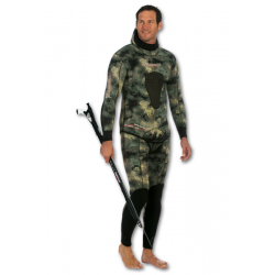 Imersion Wetsuit Jacket - Seriole Green Camo - Super Stretch 5mm - Jacket only (Size 5)