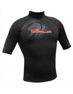 Sola Plush Rash Guard - Short Sleeve - Mens - Black