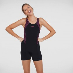 Speedo Swimsuit - Boomstar Splice Legsuit - Black/Pink