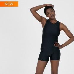 Speedo Swimsuit - Boomstar Allover Legsuit - Black/Grey