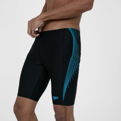 Speedo - Swim - Mens - Tech Panel Jammer - Black/Blue