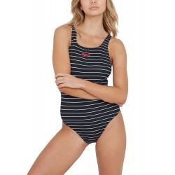 Speedo Swimsuit - Essential Endurance Medalist - Black/White