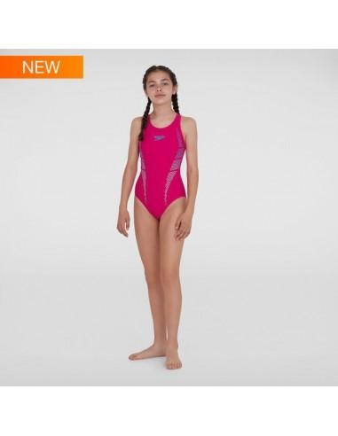 Speedo - Swimsuit - Junior - Plastisol Placement Muscleback - Pink/Blue