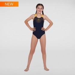 Speedo - Swimsuit - Junior - Tech Placement Muscleback - Navy/Orange