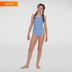Speedo - Swimsuit - Junior - Boomstar Allover Muscleback - Purple/Green