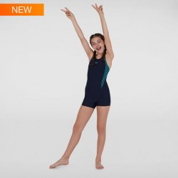 Speedo - Swimsuit - Junior - Boomstar Splice Legsuit - Navy/Blue