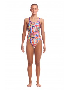 Funkita - Swimsuit - Girls - Top Spot - Diamond Back One Piece