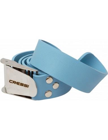 Cressi Weight Belt - Rubber - Blue - Flip up Buckle