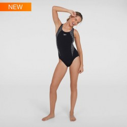 Speedo Swimsuit - Endurance Boomstar Splice Flyback - Black/White