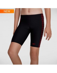 Speedo - Junior Boys - Boomstar Splice Jammer - Black/Fed Red