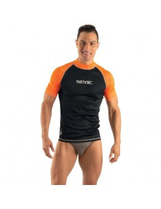 SEAC Rash Vest - Black/Orange