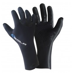 Sola Gloves - High Stretch - 3mm - Black