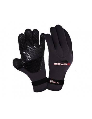 Sola Gloves - Titanium - 3mm - Black