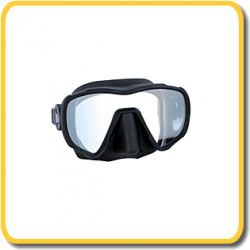 Imersion Mask - Thazard - Black Silicone/Clear lens